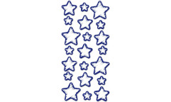 Pěnová svítící samolepka Stars 59506 Hvězdy