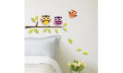 Pěnová samolepka Owls 59510 Sovičky
