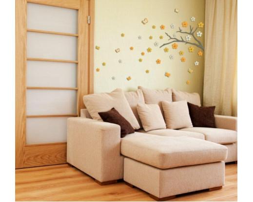 Pěnová samolepka Japanese Branch 58502 Japonská větvička
