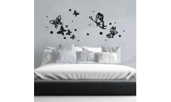 Pěnová samolepka Butterflies Silhouettes 58509 Motýli