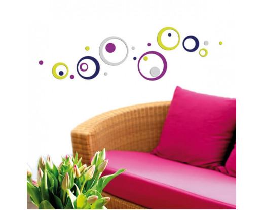 Pěnová samolepka Colorful Circles 59507 Barevné kroužky