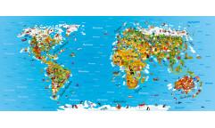 Fototapeta Mapa světa FT 0931, FTN 2731