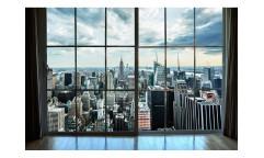 Vliesová fototapeta Pohled z okna na Manhattan 0009