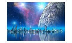 Vliesová fototapeta Futuristické město 0186