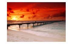 Vliesová fototapeta Molo při západu slunce 0191