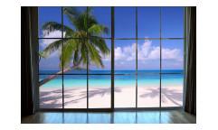 Vliesová fototapeta Pláž za oknem 0203