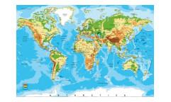 Vliesová fototapeta Mapa světa 0261