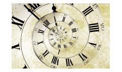 Vliesová fototapeta Spirálové hodiny 0272