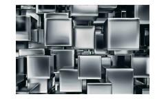 Vliesová fototapeta 3D metalové kostky 0285