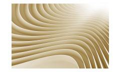 Vliesová fototapeta 3D béžové vlny 0296