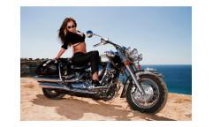 Vliesová fototapeta Dívka na motorce 0312
