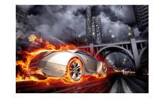 Vliesová fototapeta Auto v plamenech 0314