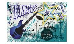 Vliesová fototapeta Modrá kytara 0323