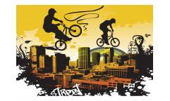 Vliesová fototapeta Cyklisti 0326