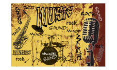 Vliesová fototapeta Žlutá hudba 0330
