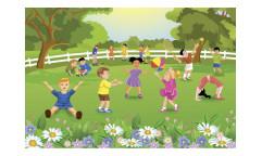 Vliesová fototapeta Děti na zahradě 0343
