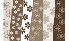 Vliesová fototapeta Brown Floral Background, Hnědý květinový vzor