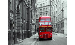 Fototapeta Červený autobus FTN 1132