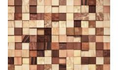 Fototapeta Lumbercheck, Dřevěné kostky 8-978
