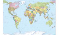 Fototapeta World map, Mapa světa XXL4-038