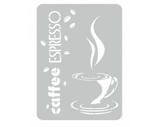 Malířská šablona Espresso 91 Káva