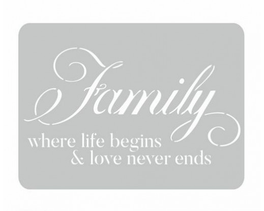Malířská šablona Family 93 Rodina