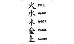 Malířská šablona Elementals 34 Čínské elementy