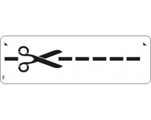 Malířská šablona - bordura Cut 110 Nůžky