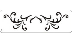 Malířská šablona - bordura Scars 122