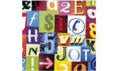 Samolepicí fólie Alpha 12876 Barevná písmenka