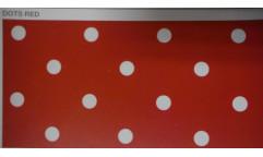 Samolepicí fólie Dots Red - Puntíky červené 12595