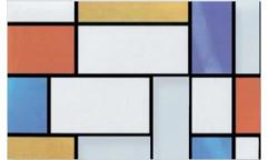 Samolepicí fólie na sklo Mondriaan - Vitráž 113555, 10277