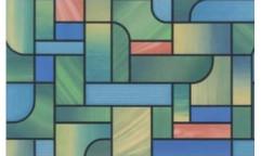 Samolepicí fólie na sklo Church - Vitráž 114361, 10227