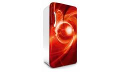Samolepicí fototapeta na lednici Red Abstract, Červená abstrakce