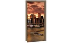 Samolepicí fototapeta na dveře New York DL001