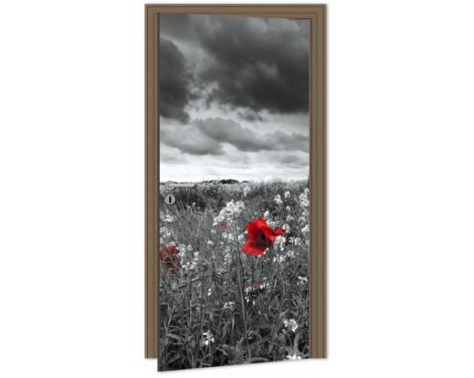 Samolepicí fototapeta na dveře Poppies DL012 Vlčí máky