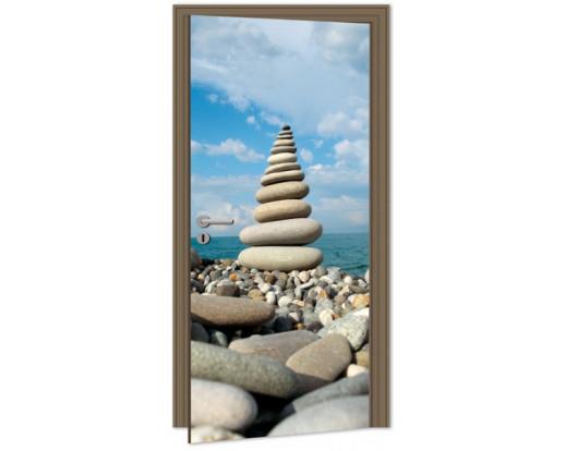 Samolepicí fototapeta na dveře Stack of Stones DL014 Kameny