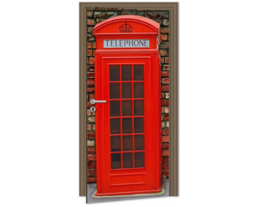 Samolepicí fototapeta na dveře British Phone DL020 Telefonní budka