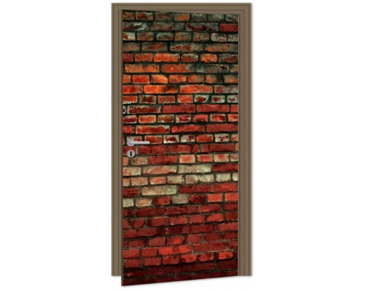 Samolepicí fototapeta na dveře Brick Wall DL022 Cihlová zeď