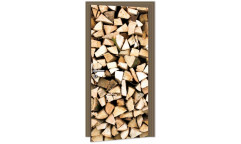 Samolepicí fototapeta na dveře Timber Logs DL024 Dřevěná polena