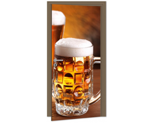 Samolepicí fototapeta na dveře Beer DL025 Pivo