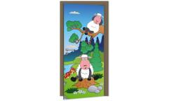 Samolepicí fototapeta na dveře Sheep DL030 Ovečka