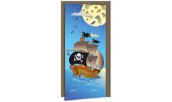 Samolepicí fototapeta na dveře Pirate Ship DL031 Pirátská loď