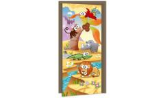 Samolepicí fototapeta na dveře Animals DL032 Zvířátka