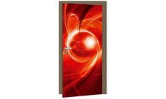 Samolepicí fototapeta na dveře Red Abstract DL035 Červená abstrakce