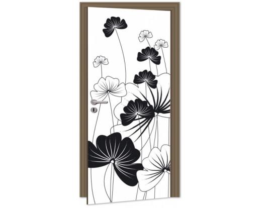 Samolepicí fototapeta na dveře Black Plant DL039 Černá rostlina