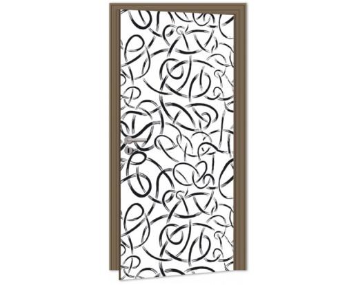 Samolepicí fototapeta na dveře Abstract Lines DL040 Abstraktní linie