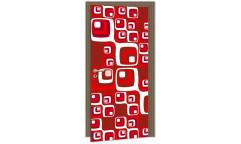 Samolepicí fototapeta na dveře Red Squares DL042 Červené čtverce