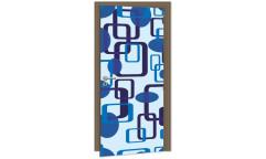 Samolepicí fototapeta na dveře Blue Squares DL043 Modré čtverce