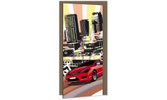 Samolepicí fototapeta na dveře Red Car DL047 Červené auto